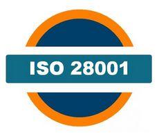 ISO 28001 Munkahelyi Egészségvédelmi Biztonsági Irányítási Rendszer logó