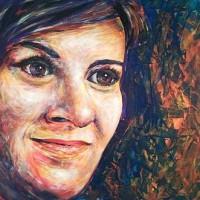 Kárpáti Zoltán: Ági - akril portré