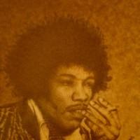Kárpáti Zoltán: Jimi Hendrix - homok portré